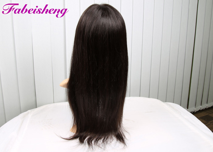 Natural Straight Front Lace Wigs For Black Women 8A Indian Virgin Human Hair