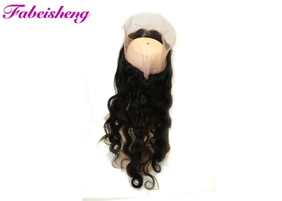 Virgin Brazilian Human Hair 360 Lace Frontal Closure Tangle Free